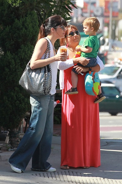 Selma Blair Takes Baby Arthur Out For Breakfast 10