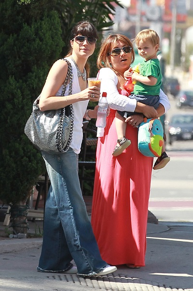 Selma Blair Takes Baby Arthur Out For Breakfast 12