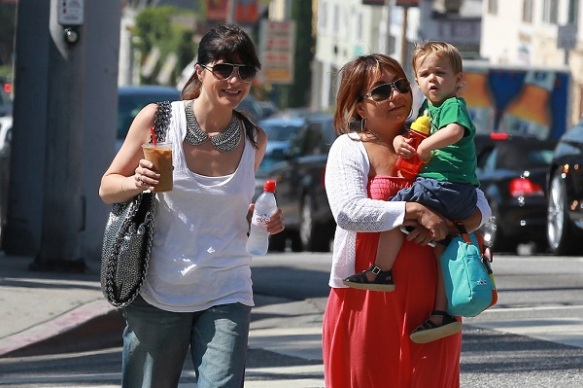 Selma Blair Takes Baby Arthur Out For Breakfast 13