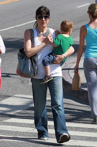 Selma Blair Takes Baby Arthur Out For Breakfast 16