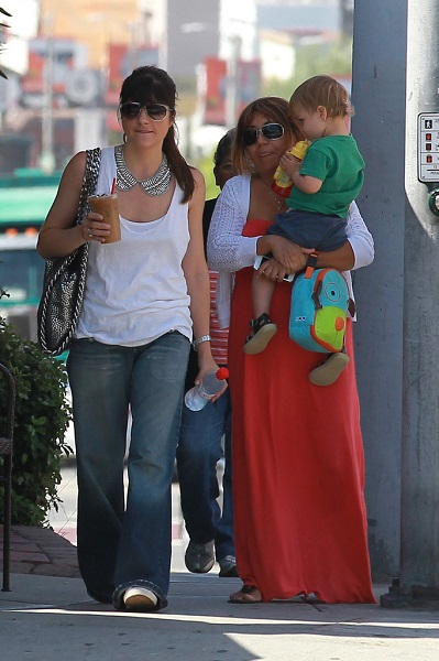 Selma Blair Takes Baby Arthur Out For Breakfast 5