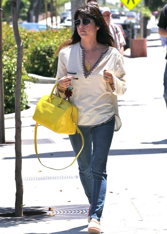 Selma Blair Brightens Her Day With Cheery Saint Laruent Tote