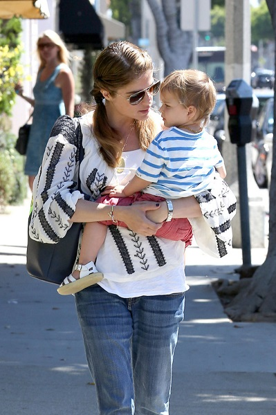 Selma Blair Out With Baby Arthur 7