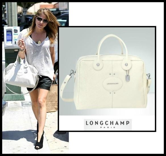 Selma Blair Carrying Longchamp Bag