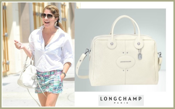 Selma Blair Carrying Longchamp Quadri Bag