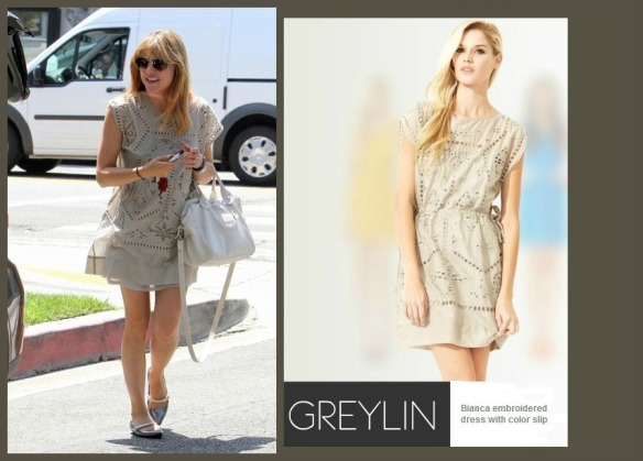 Selma Blair in Greylin dress