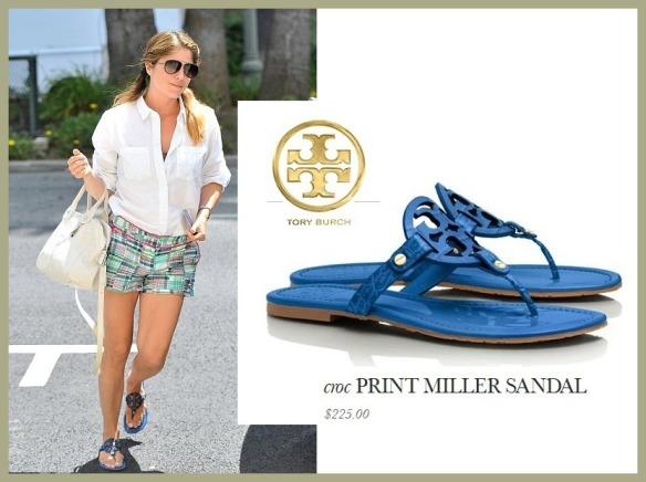 Selma Blair Tory Burch Sandals