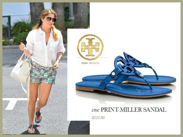 Selma Blair Tory Burch Sandals