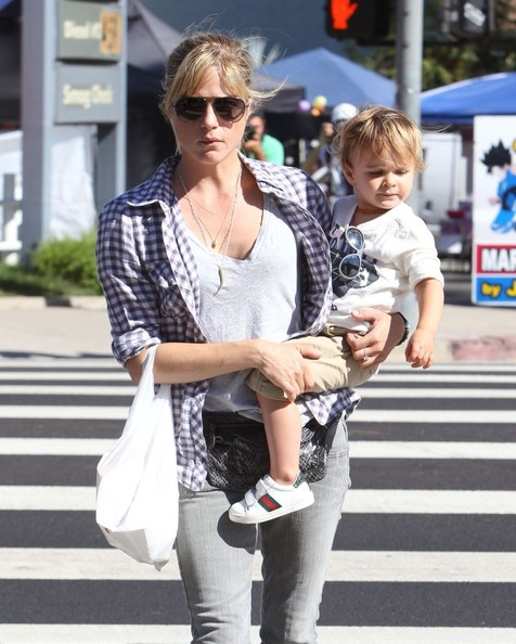 Selma Blair & Son Arthur Spotted At Farmers Market 1