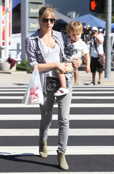 Selma Blair & Son Arthur Spotted At Farmers Market 2