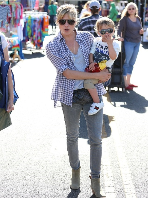 Selma Blair & Son Arthur Spotted At Farmers Market 6