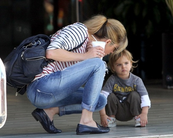 Arthur Saint Shares A Treat With Mommy Selma Blair 3