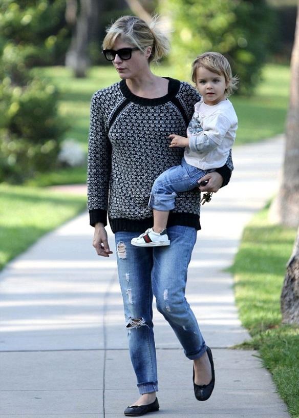 Selma Blair & Arthur Saint Beverly Hills Stroll 1