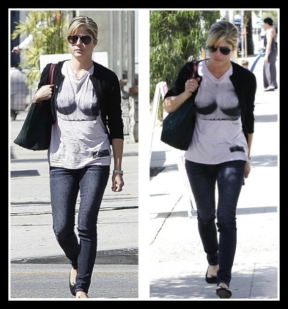 Selma Blair in Kelly Wearstler Bust Tee 1