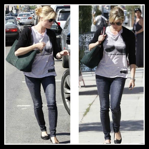 Selma Blair in Kelly Wearstler Bust Tee 3