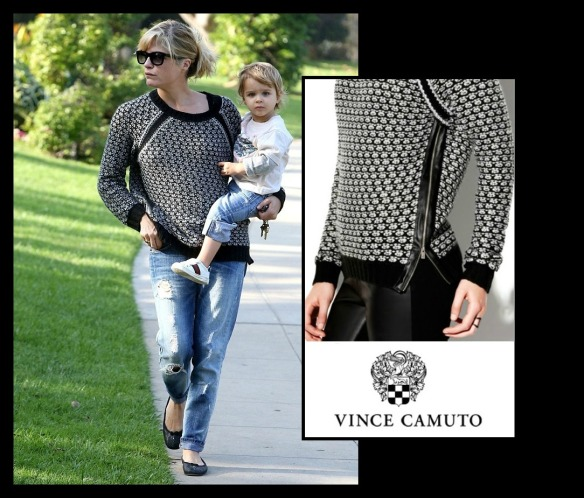 Vince Camuto Honeycomb Side Zip sweater worn by Selma Blair
