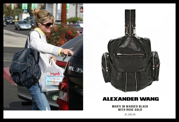 Alexander Wang Marti Lambskin Backpack Shoulder Bag as seen worn by Selma Blair