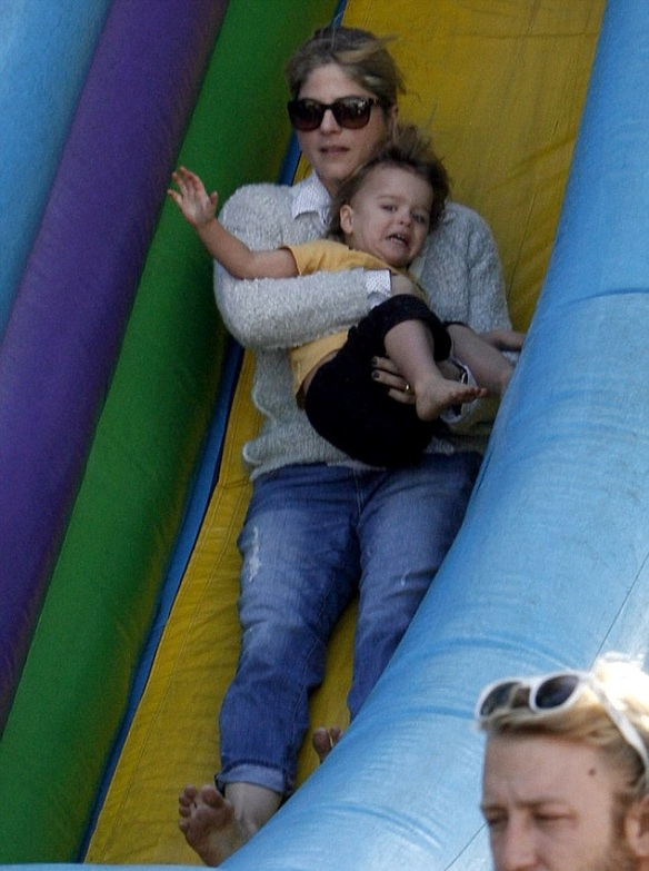 Selma Blair & Arthur Saint Bleick Snow Cones and Slides 13