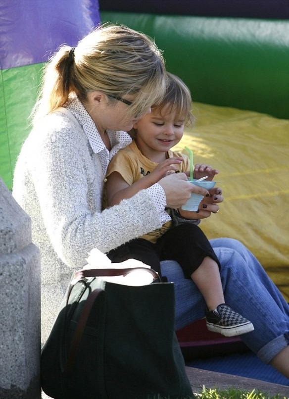 Selma Blair & Arthur Saint Bleick Snow Cones and Slides 14