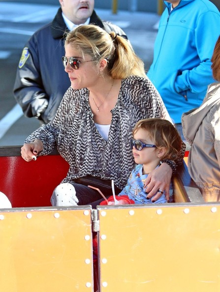 Selma Blair & Arthur Saint Pony Rides At Farmers Market 3
