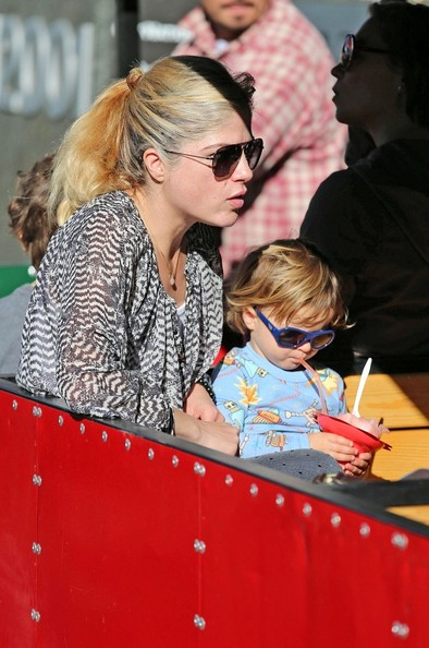 Selma Blair & Arthur Saint Pony Rides At Farmers Market 4