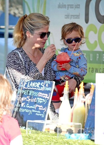 Selma Blair & Arthur Saint Pony Rides At Farmers Market 6