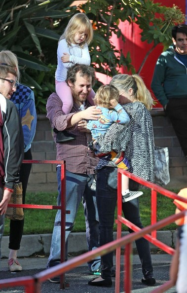 Selma Blair & Son Say Hello To Friend Ben Lee 1