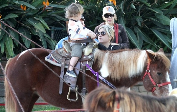 Selma Blair & Arthur Saint Pony Rides 2