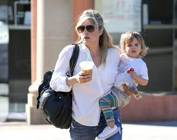 Selma Blair & Little Arthur Candids January 13, 2014 2