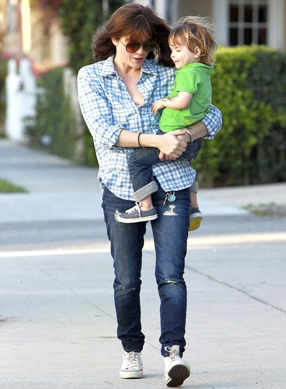 Selma Blair & Her Little Saint 1