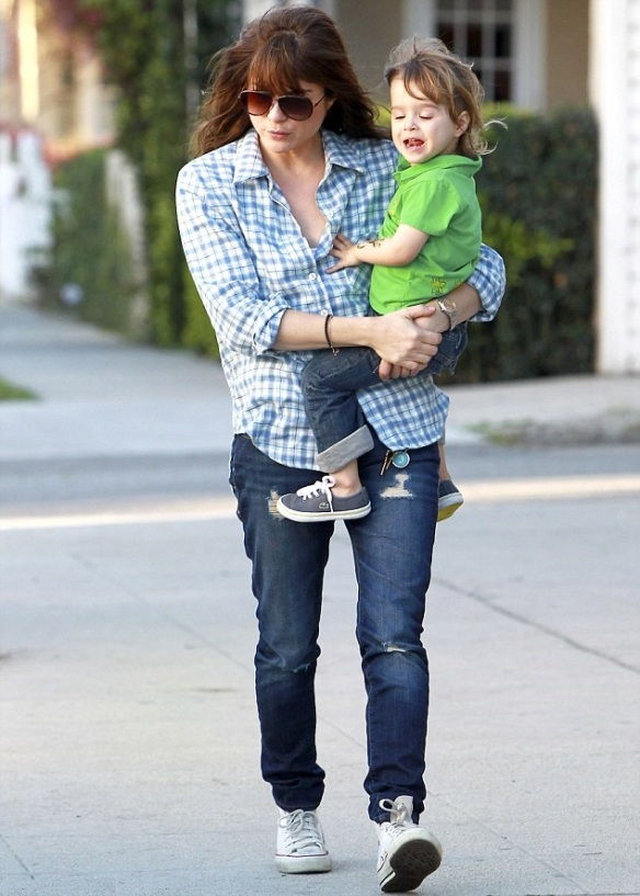 Selma Blair & Her Little Saint 2