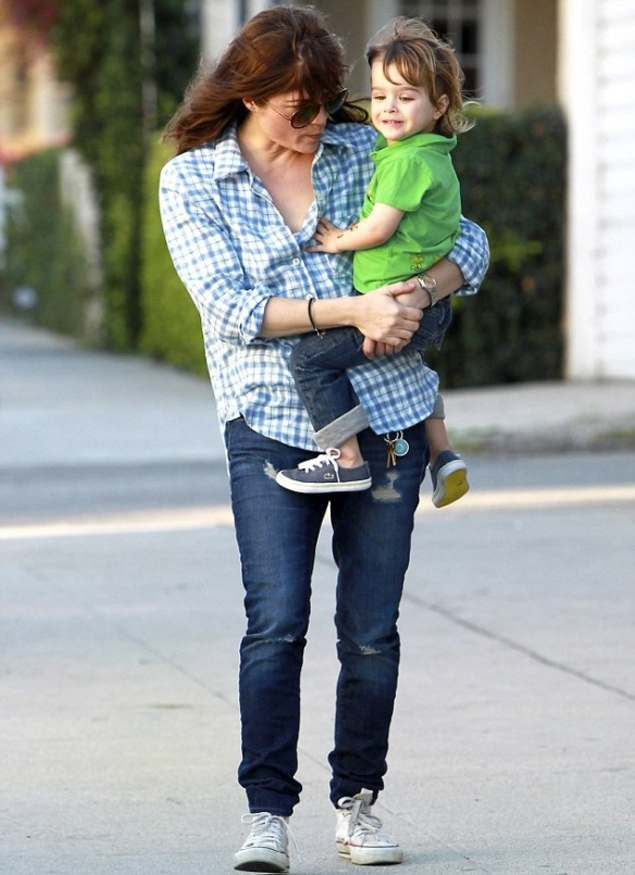 Selma Blair & Her Little Saint 4