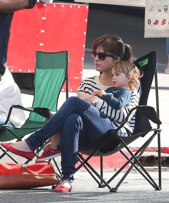 Selma Blair Talbots Je T'amie Striped Sweater 1