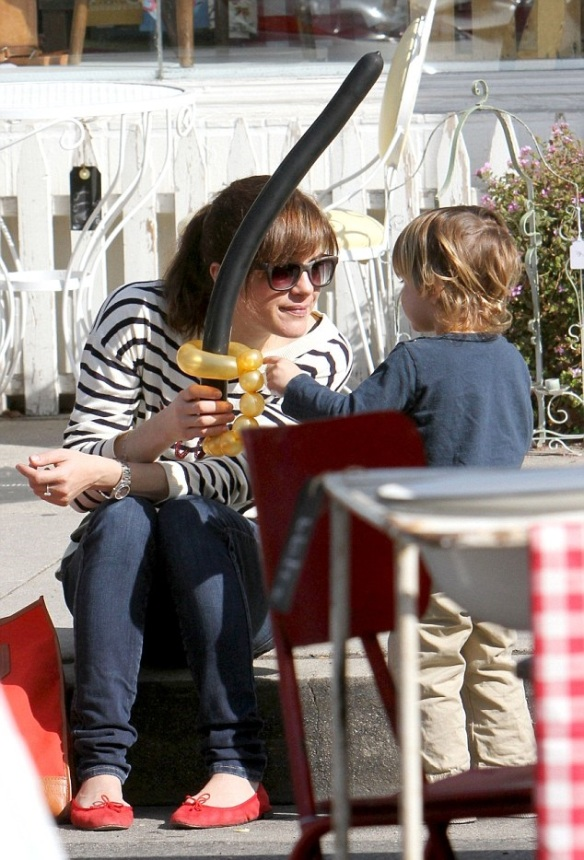 Selma Blair Talbots Je T'amie Striped Sweater 2
