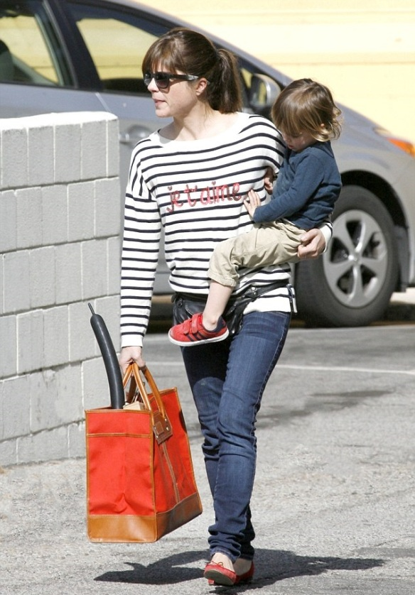 Selma Blair Talbots Je T'amie Striped Sweater 3
