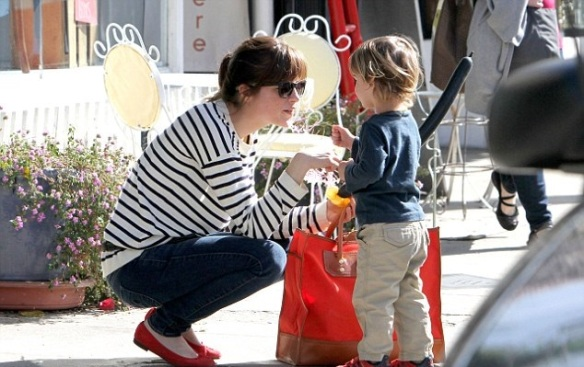 Selma Blair Talbots Je T'amie Striped Sweater 4