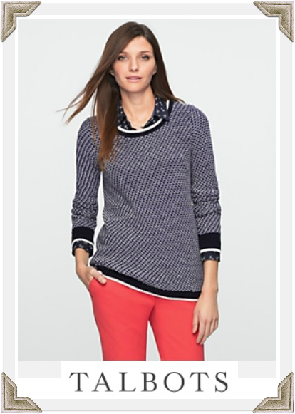 Talbots sweater as seen on Selma Blair