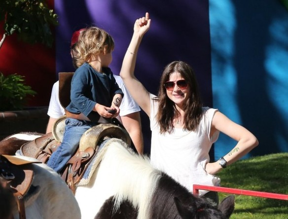 Selma Blair & Son Saint Get Matching Tattoos 10