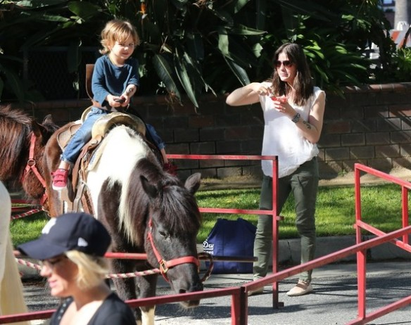 Selma Blair & Son Saint Get Matching Tattoos 2