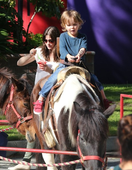 Selma Blair & Son Saint Get Matching Tattoos 3
