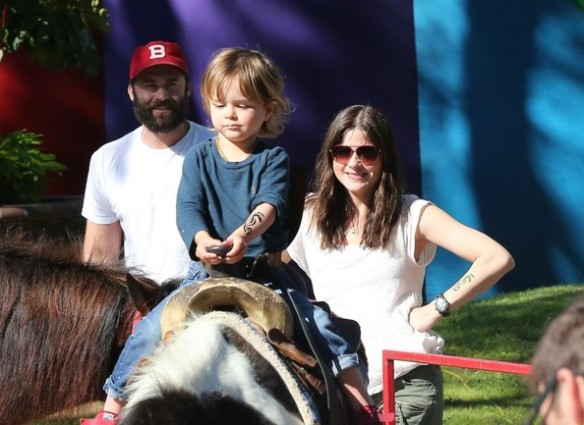 Selma Blair & Son Saint Get Matching Tattoos 9