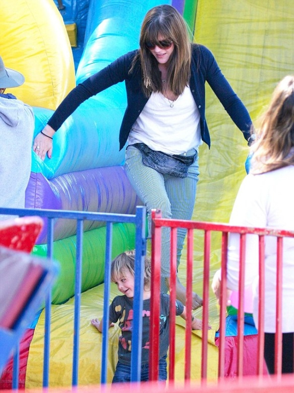 Selma Blair Sliding With Son Arthur 10