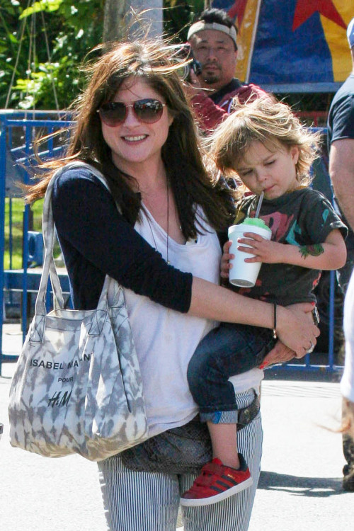 Selma Blair spends Mother's Day with her favorite little man!