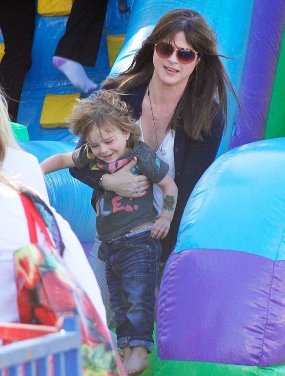 Selma Blair Sliding With Son Arthur 6