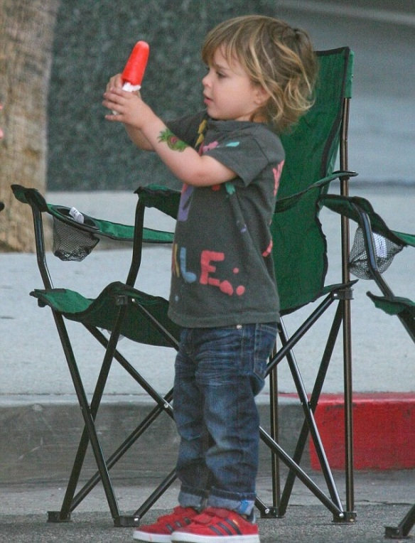 Selma Blair Sliding With Son Arthur 7
