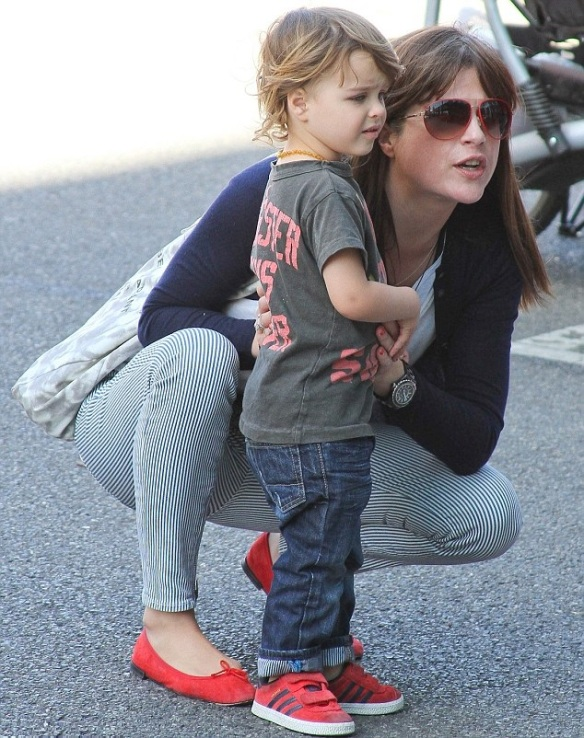 Selma Blair Sliding With Son Arthur 8