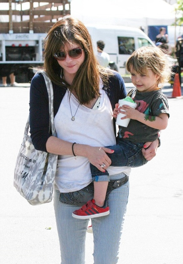 Selma Blair Sliding With Son Arthur 9