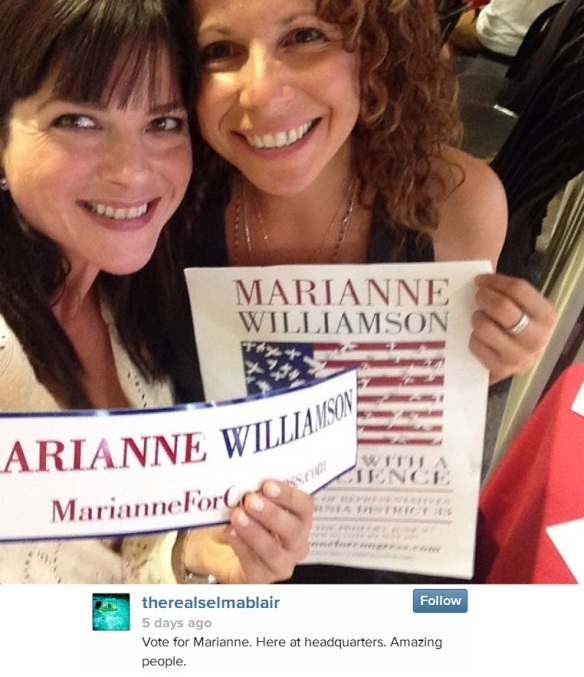 Selma Blair supports Marianne Williamson For Congress 1