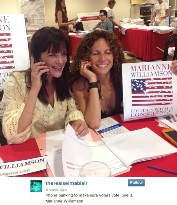 Selma Blair supports Marianne Williamson For Congress 2