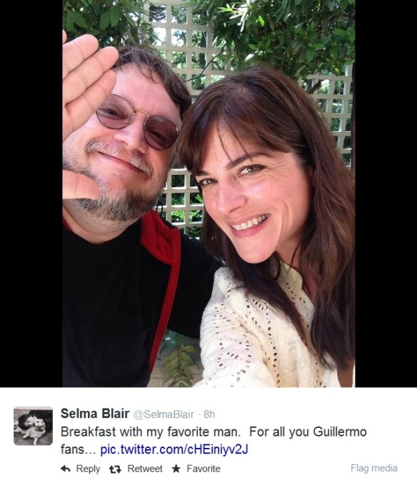 Selma Blair & Guillermo Del Toro Breakfast